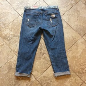 GAP Jeans - GAP size 6 best girlfriend cropped jeans patches